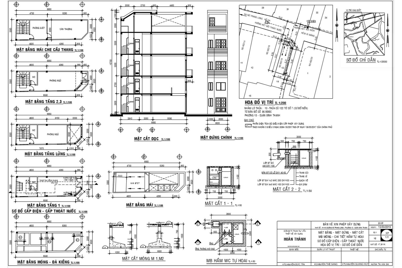 Bản vẽ xin phép xây dựng mẫu tại đường Nơ Trang Long quận Bình Thạnh.png