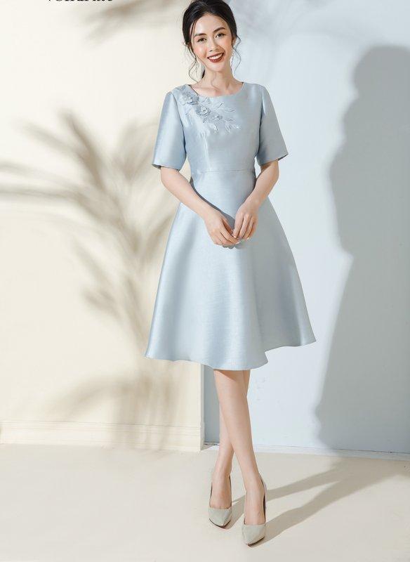 đầm Lux xanh Decham.jpg