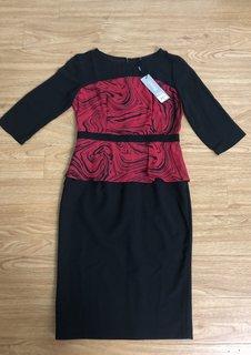 Đầm PEPlum đen đỏ Finona.jpg
